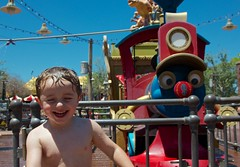 Cash and Casey Jr. - Magic Kingdom Splash Pad - 5.13 (meanderingmouse) Tags: travel disney cash magickingdom canonef24105mmf4lis