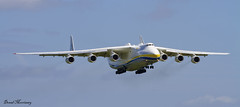 Antonov An-225 short finals at Shannon (birrlad) Tags: ireland 6 airplane airport clare aircraft aviation airplanes cargo landing shannon engines airline co approach airlines russian runway biggest airliner freighter antonov an225 mriya