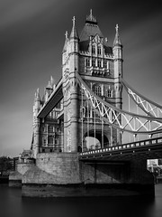 Icon (vulture labs) Tags: longexposure travel bridge bw london art monochrome architecture clouds towerbridge londonbridge mono britain fine monotone monochromatic icon daytime iconic londonskyline bwfilter daytimelongexposure bwlondon iconicbuilding nd110 nd106 fineartphotograph iconiclandmark