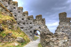 Northern Castle Remains (Shertila Tony) Tags: england sky castle weather architecture clouds europe cornwall day cloudy britain steps tourist coastline legend hdr tintagel kingarthur llokingdown englishheratige dintagel