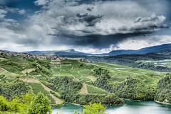 Storm in the valley (Lorenzoclick) Tags: italy mountain storm green nature canon lago valle valley 5d montagna cles trentino temporale valdinon canon5dmarkiii canonef40mmf28stm