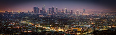Sundown over the City of Angels (Craig Hudson Photography) Tags: california longexposure sunset panorama cali night landscape la losangeles downtown cityscape socal downtownla southerncalifornia griffithobservatory losangelesskyline lasunset laskyline