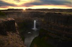 Palouse Falls at Dawn (Darrell Wyatt) Tags: sunrise river dawn waterfall washington desert sacred basalt palouse easternwashington palousefalls