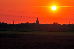Bunschoten Spakenburg at Sunset (https://www.facebook.com/ArrrrtDesignPhotography) Tags: sunset summer sun water netherlands evening stock setting nijkerk arrrrt nijkerkernauw arjenvanderbroek arrrrtcom