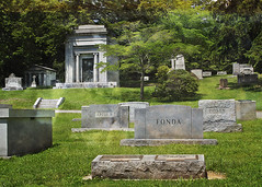 A HOUSE ON A HILL (NC Cigany) Tags: cemetery nc creepy mausoleum lonely tombstones