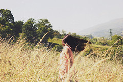 (Bittersweet_whispers) Tags: sun nature field hair flip hairflip