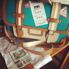 All aboard! :) #travel #bag #satchel #customized 1st place #winning #concept #honeybadger #bags  @studiobohemeph (marquita_graphics) Tags: square squareformat rise iphoneography instagramapp uploaded:by=instagram
