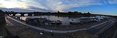 Dresden Elbe Panorama ... (RenateEurope) Tags: panorama apple june dresden elbe sunsettime 2013 iphone4s uploaded:by=flickrmobile flickriosapp:filter=nofilter