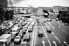 IMG_1456 (pasha_valera) Tags: city summer blackandwhite monochrome alone sad traffic russia moscow reallity