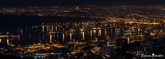Cape Town by Night (biancapreusker) Tags: city light panorama reflection night southafrica tour harbour capetown canon450d thechallengefactory