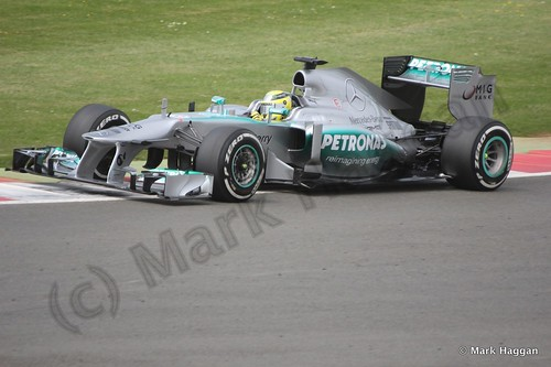 Nico Rosberg in Qualifying for the 2013 British Grand Prix