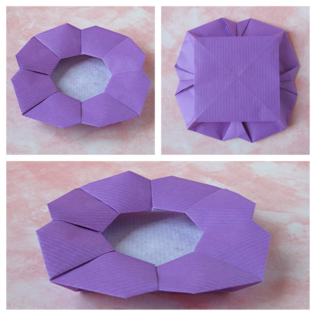 Origami Box Octagon With Rose