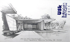 Barcelona Pavillion 2 (Flaf) Tags: world barcelona urban pencil drawing exposition german florian van der mies usk pavillion symposium freie 1929 sketchers rohe flaf afflerbach zeichnerei