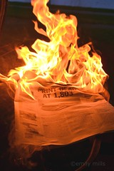 End of an Era (Lost Albatross) Tags: wisconsin fire newspaper flames burning madison theonion printisdead