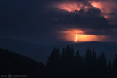 A storm high above Roaring Fork Valley (Silent G Photography) Tags: nightphotography storm nikon colorado adobe nik thunderstorm rockymountains lightning aspen roaringfork reallyrightstuff rrs pitkin westernslope 2013 pitkincounty roaringforkvalley nikond800 richmondridge markgvazdinskas silentgphotography silentgphoto