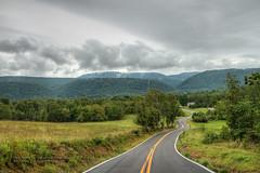 Pine Swamp Road (Western Maryland Photography) Tags: road rain fog pine westvirginia swamp photomatix mineralcounty canonefs1755mm28isusm canoneos7d