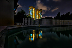 Moonlighting (OzGFK) Tags: pool night clouds canon singapore asia powershot hdb hollandvillage s100 housingdevelopmentboard