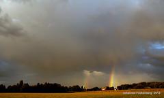 Unwetter über Kirchhellen (grafenhans) Tags: sony wolken tamron regenbogen wetter stjohannes kirchhellen 281750 slt55