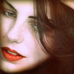 Amy (digitalpsam) Tags: portrait beautiful beauty blueeyes redlips