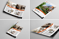 Bi-Fold Brochure 14 (Demorfoza) Tags: house home magazine print real design apartment graphic sale ad move half fold leaflet a4 brochure bi template realtor pamphlet broker bifold esatate halffold
