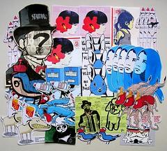Vlot (PSYCO ZRCS 10/12) Tags: street art up japan stencil sticker stickerart artist label paste stickers trading labels usps trade 228 slaps vlot stickerporn