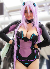 Neptune (Purple heart) (Busha_b) Tags: london expo cosplay streetphotography sega cosplayer comiccon neptune purpleheart excel cosplaygirl mcmexpo londoncomiccon hyperdimensionneptunia mcmlondoncomiccon mcmexpooctober