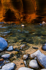 The Narrows at Zion (GeorgeABoyle) Tags: nature beautiful stone river nationalpark sandstone canyon zion narrows