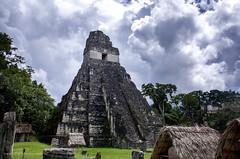 The Temple of the Great Jaguar (@!ex) Tags: rain stone clouds america canon season temple 1 ruins maya guatemala 28mm great rainy mayan tikal jaguar f18 drak templei xentral canon5dmkiii