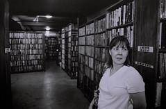 the last book store, los angeles ca (zcottmorgan) Tags: california blackandwhite film 35mm canon mom book losangeles books read thelastbookstore zcottmorgan josephscottmorgan