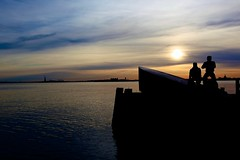 Battery Park (Litratistica Images NYC) Tags: nyc newyorkcity sunset usa newyork li earl dolphy holeindawall litratistica