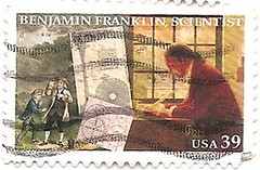 USA stamp - Benjamin Franklin, Scientist (sftrajan) Tags: usa unitedstates printer stamps stamp inventor politician benjaminfranklin timbre scientist postagestamp philately publisher sello diplomat briefmarke  francobollo postmaster  39cents