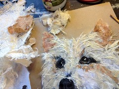 Torn Paper Pet Portrait - In Progress (all things paper) Tags: petportraits chigirie tornpaperart