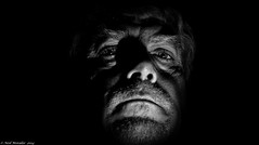 I have seen the terror, I have seen the marks (Neil. Moralee) Tags: old portrait blackandwhite bw white man black male monochrome face self nikon close fear flash evil neil monotone marks mature wicked terror satanic selfy selfie d7100 moralee neilmoralee vision:sky=0723 vision:dark=0832