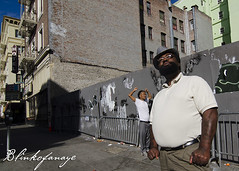 Communicating with the universe (Blinkofanaye) Tags: sanfrancisco street morning sun men corner nikon candid homeless prayer africanamerican tenderloin tibetian