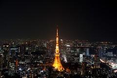 Tokyo Night Skyline from Tokyo City View, Mori Tower.