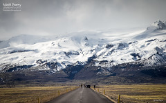 Looking back (Matt Parry Photo) Tags: road mountains cars photography iceland vatnajokull fjallsarlon snowypeak canon24105 canon60d mattparry