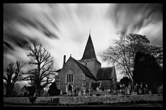 Alfriston Church (Usuf Islam) Tags: longexposure blackandwhite church canon moody alfriston canon7d