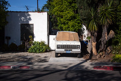 White Ford Van in West Hollywood - California (ChrisGoldNY) Tags: california street white la losangeles forsale vehicles palmtrees socal albumcover vans westhollywood sidewalks streetscenes bookcovers albumcovers licensing laist losangelescounty chrisgoldny chrisgoldberg chrisgoldphoto chrisgoldphotos