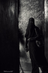 Veil (thatinvisibleguy) Tags: bw white black canon veil muslim cover feminism society injustice burqa patriarchy