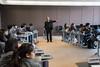 立法會主席曾鈺成議員與香港中文大學校友會聯會陳震夏中學的學生會面 Hon Jasper TSANG Yok-sing, President of the Legislative Council, meets with students of CUHKFAA Chan Chun Ha Secondary School (2015.01.27)