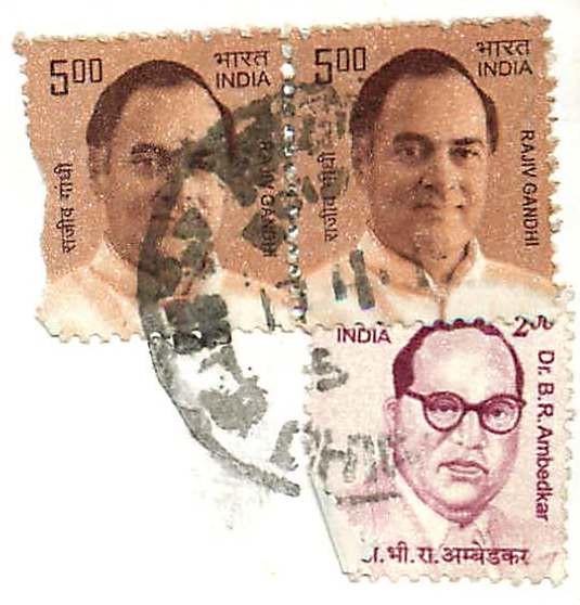 India Rajiv  Gandhi Dr B R Ambedkar