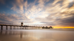 It was another beautiful day (Eunice Eunjin Oh) Tags: ca longexposure sunset sky seascape reflection clouds pier newportbeach orangecounty seashore huntingtonbeach huntingtonbeachpier leefilter