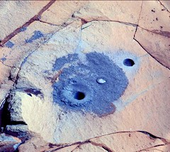 0883MR0038510020501184E01_DXXX_a (hortonheardawho) Tags: pink mars color hole gale cliffs hills curiosity drill false pahrump 0883 mojave2