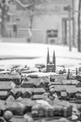 Mini Zagreb (Francesca's Photography) Tags: winter blackandwhite white snow black monochrome croatia zagreb hrvatska
