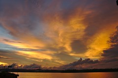 Dyed in Gold (jipan) Tags: sunset cloud river indonesia gold sony balikpapan nex5t