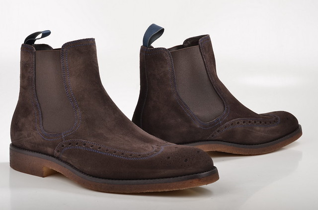 boss braun tailored chelseaboot veloursleder herrenboots tpurien 50273890