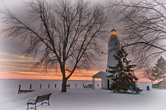 NeenahLight (jmishefske) Tags: park winter light lighthouse lake snow lamp wisconsin river point pentax january fox kimberly winnebago 2015 neenah k01 lowerfoxriver neenahlight