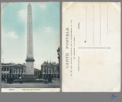 PARIS - Obélisque de Louqsor (bDom [+ 3 Mio views - + 40K images/photos]) Tags: paris 1900 oldpostcard cartepostale bdom