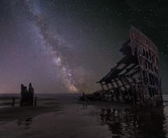 Milky Way over Ship Wreck (https://500px.com/obrik) Tags: longexposure beach night oregon stars landscape nightscape shipwreck milkyway