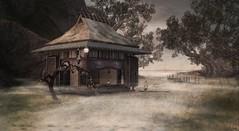 Quiet places (Tripp Nitely) Tags: misty landscape scenic hut secondlife shack marsh wetland engawa slarchitecture thehellshaven